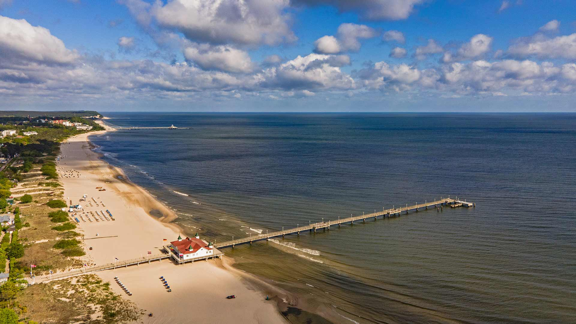 Seebrücke Ahlbeck Luftaufnahme Herrgott Strandhus