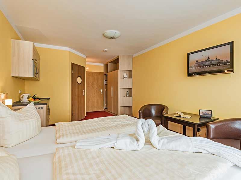 Hotel Strandhus Herrgott Hotelzimmer